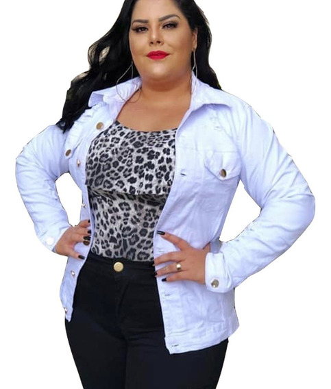 Jaqueta Jeans Feminina Plus Size Moletom Agasalho Touca