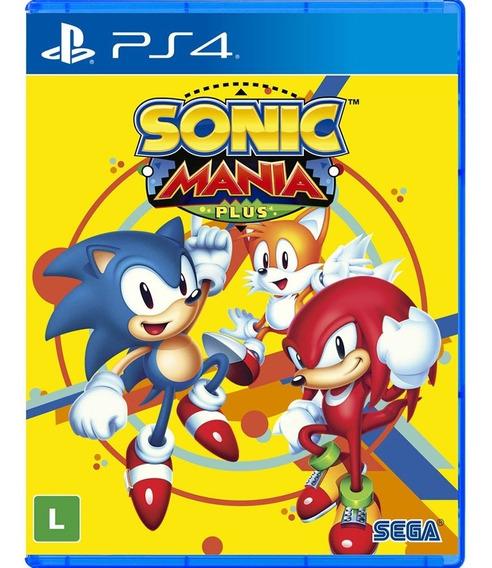 Sonic Mania Plus - Ps4 - Novo - Mídia Física