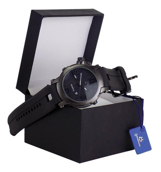 Relógio Masculino Original Pulseira Borracha Garantia