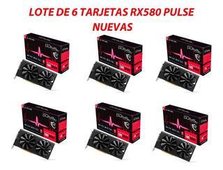 6 Tarjetas Sapphire Pulse Radeon Amd Rx580 8gb