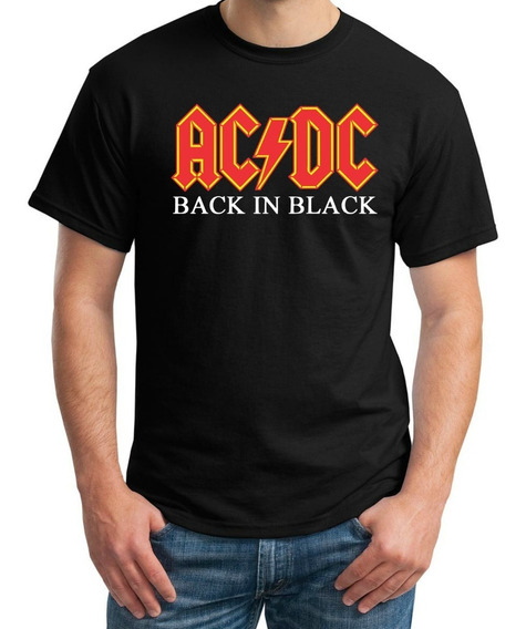 Playera Ac Dc Back In Black Manga Corta