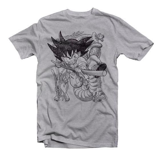 Playera Dragon Ball Goku Gris