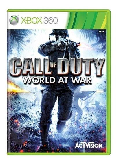 Call Of Duty World At War Xbox 360 Original Mídia Física