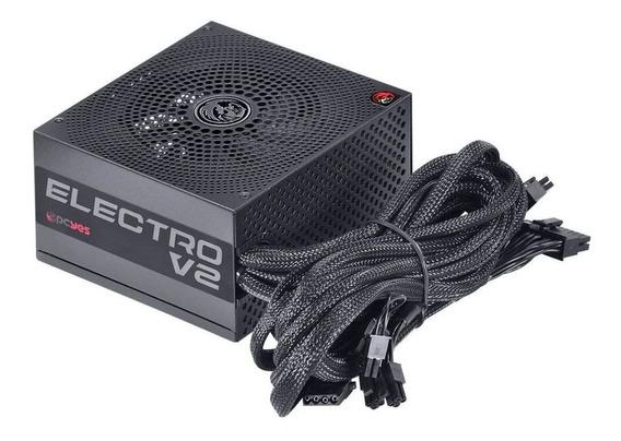 Fonte Pcyes Electro V2 550w 80 Plus Bronze Pfc Ativo