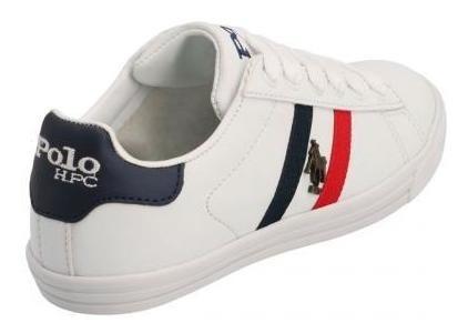 Tenis Para Niño Polohpc 390-058911 Color Blanco