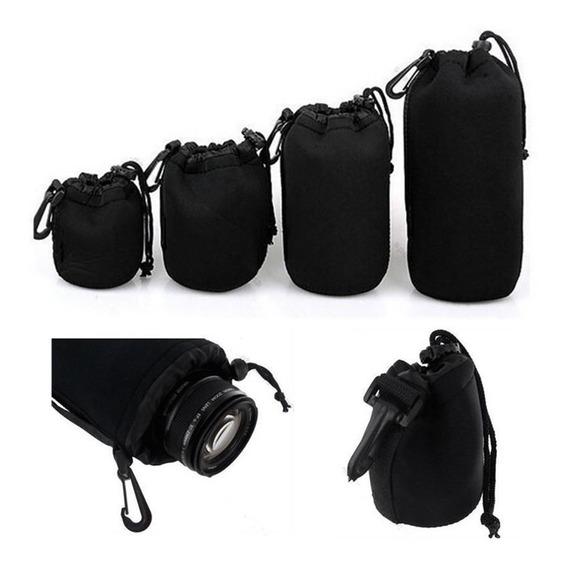 Bolsa Lente Bolsa Neoprene Macio 4 Pcs Para Câmera Slr Canon