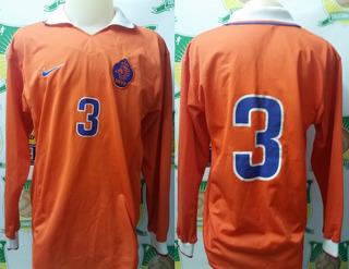 Camisa Oficial Futebol De Jogo Holanda # 3 Manga Longa 1997