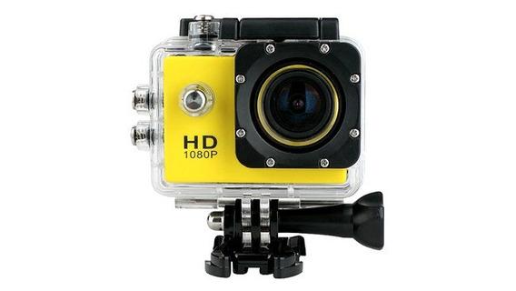 Câmera Sports Hd 1080p Fullhd 30m Similar Gopro + Acessórios