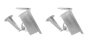 Kit 2 Caixas Forte De Proteção Câmera Antifurto Galvanizado