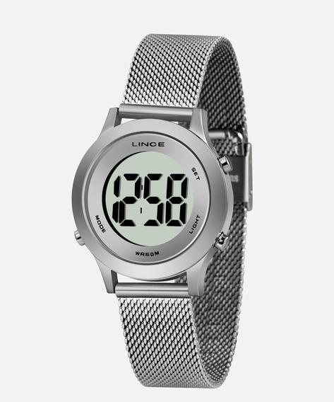 Relógio Lince Feminino Digital Prata Esteira Sdph111l
