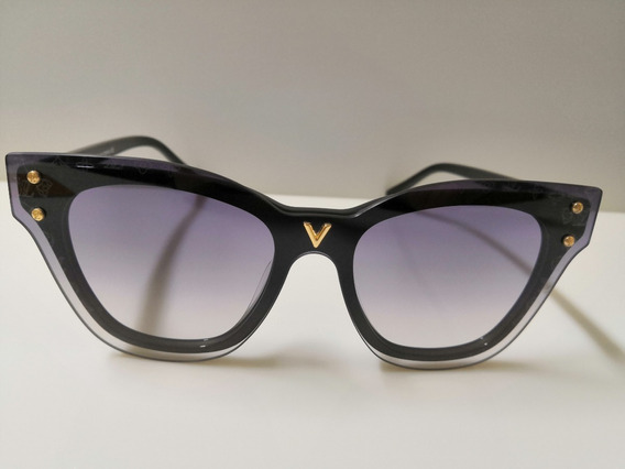 Óculos De Sol Louis Vuitton Z2380e Preto E Lentes Degradê