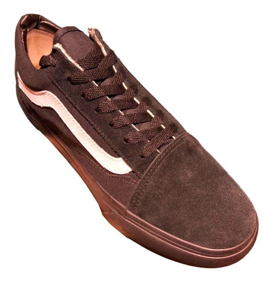 Zapatillas De Mujer Y De Hombre Modelo Old Skool Marrones