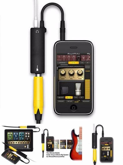 Interface Para Ligar Guitarra Violão Baixo No iPhone iPad