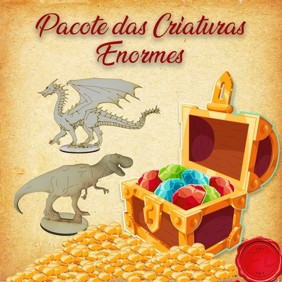 Pacote Das Criaturas Enormes- Miniaturas Rpg