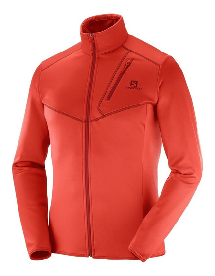 Campera Salomon Discovery Fz Hombre Fiery Red
