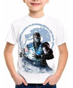 Camiseta Infantil Mortal Kombat X Sub Zero Ermac Kenshi