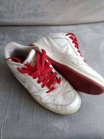 Tênis Masculino 44 | Nike Air Force 1 | Branco E Vermelho
