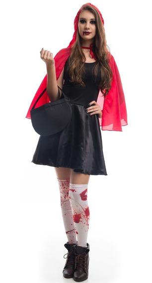 Roupa De Halloween Feminina Vestido Chapeuzinho Vermelho