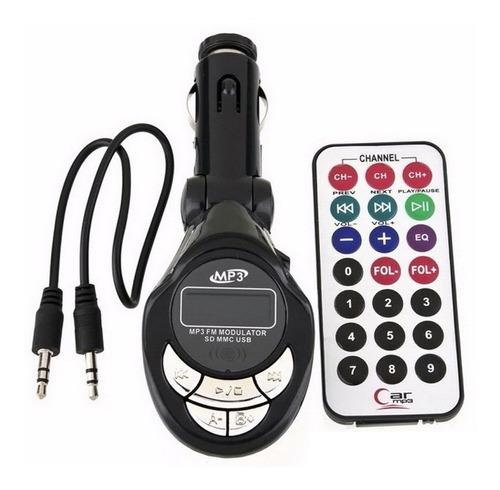 Transmisor Fm 4 En 1 Coche Usb Sd Celulares Control Remoto