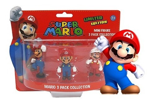 3 Figuras Original De Super Mario Bros - Sellado