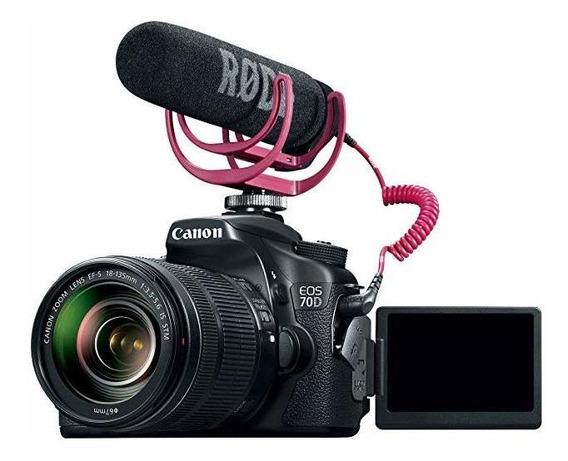 Canon Eos 70d Video Creator Kit 18-135mm Lente Rode Videom ®