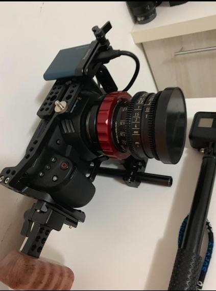 Blackmagic Pocket Cinema Camera 4k Bmpcc + Cage + Handle +