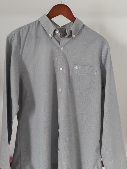 Camisa Cabllero Gris Dockers