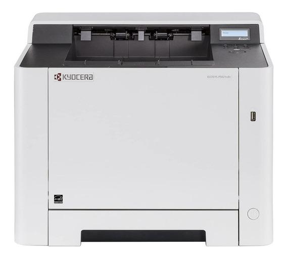 Impressora a cor Kyocera Ecosys P5021CDN 120V branca e cinza
