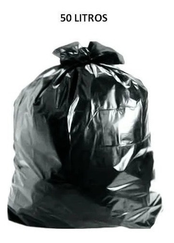 Saco De Lixo 50 Litros Intermediario Reforçado 100 Unidades
