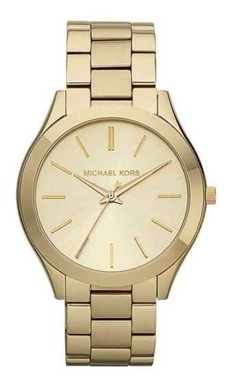 Relógio Michael Kors Feminino Dourado Runway - Mk3179/4dn