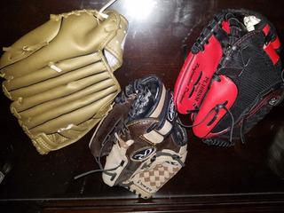 Por Los 3 Guantes De Baseball 2 Rawling Y 1 De Adrian Beltre