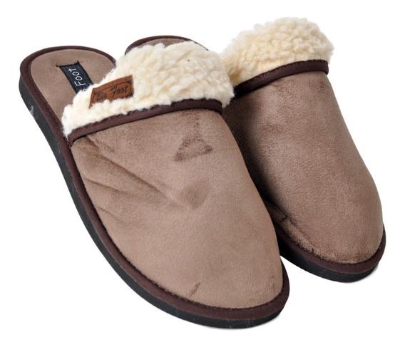 Pantufla Big Foot 890 Corderito Goma Hombre Papá Cuotas