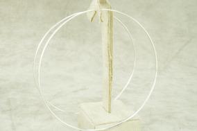 Brinco Argola Feminina 97 Mm (me5,8) Prata