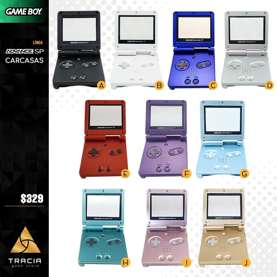 [ Carcasa Gameboy Advance Sp ] Gba Colores 001 101 | Tracia