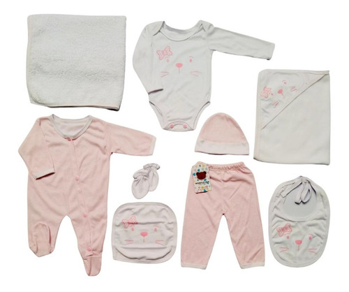 Primer Dia Bebe Recien Nacido Niño Niña 9 Piezas Ref 160