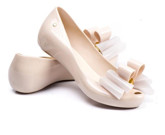 Sapatilha Sapato Infantil Feminina Criança Com Laço Nude