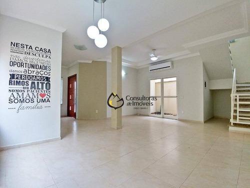 Casa Com 3 Dormitórios À Venda, 260 M² Por R$ 760.000,00 - Condomínio Campos Do Conde 1 - Paulínia/sp - Ca0542