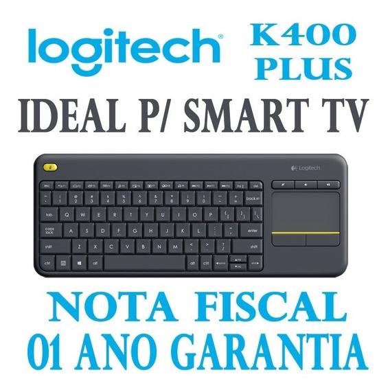 Teclado Logitech Sem Fio Touch K400 Plus Microsoft Win E Tv