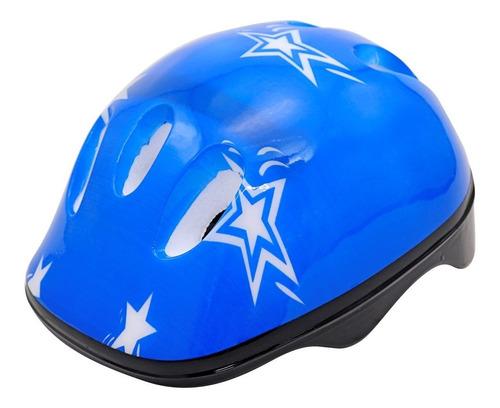 Capacete Azul Infantil Bike Skate Patins Patinete Ajustavel