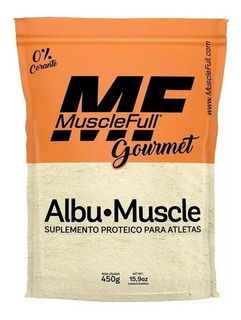 Albumina Gourmet 0% Corante ( 450g ) Muscle Full - Sabores