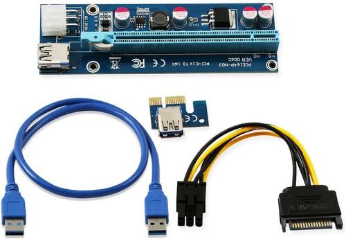 Riser Extension Pci Express 16x 6-pin Usb Sata 006c Btc Eth