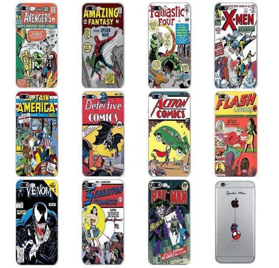 Funda Superheroes Para iPhone Silicón