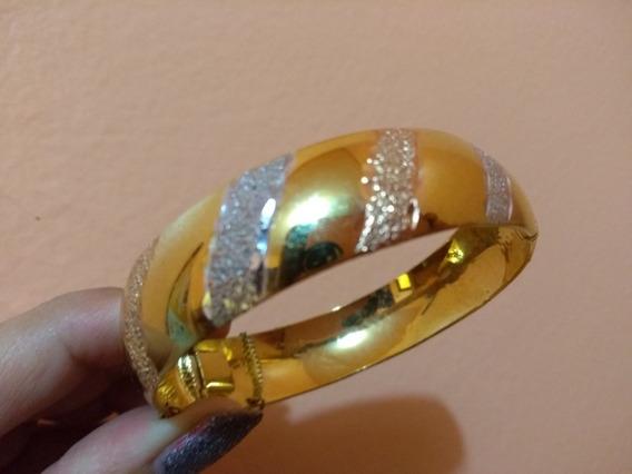 Brazalete En Oro Laminado De 14 Kt
