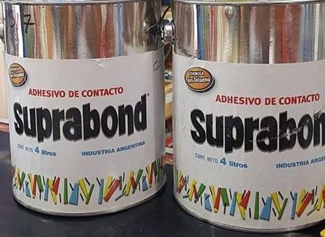 Cemento De Contacto Pegamento Sin Tolueno Suprabond 4 Litros