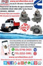 Bombas De Agua Cummins L10,lta10 Guatemala