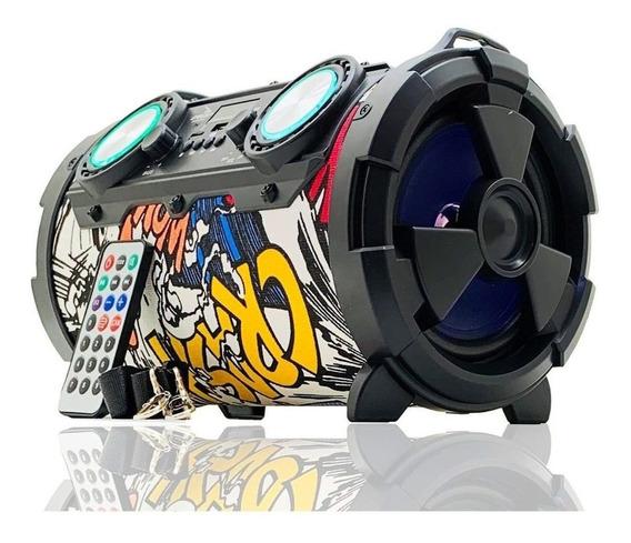 Caixa De Som Bluetooth Amplificada Canhão Tws Usb Mp3 P2 P10