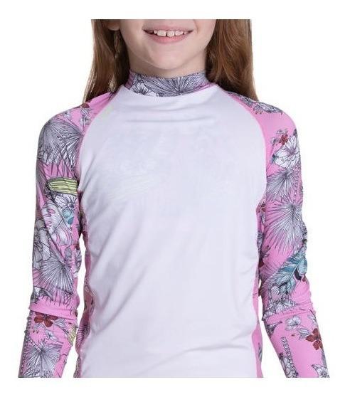 Blusa Camisa Proteção Solar Infantil Menina Upf 50+ Manga