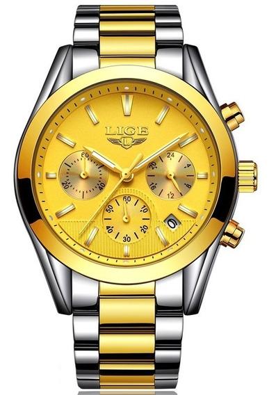 Relógio Lige Masculino Original Lg9872 Barato Todo Funcional
