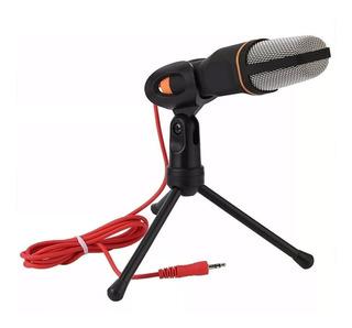 Micrófono Condensador Semi Profesional Jack 3.5 Con Trípode