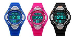 Relógio Infantil Digital Skmei 1077 Original Prova De Agua